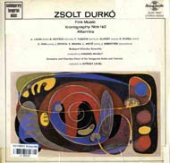 Durkó Zsolt: Fire music; Iconography No.1; Iconography No.2; Altamira