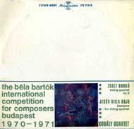 Nemzetközi Bartók Béla zeneszerző verseny, 1970-1971