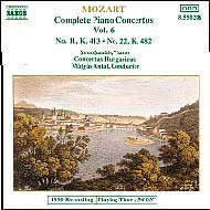 Mozart, Wolfgang Amadeus: Piano Concertos Vol.6, No. 11 (K.413) and 22 (K.482)