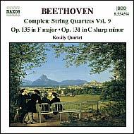 Beethoven vonósnégyesek (összes) 9.