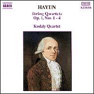 Haydn vonósnégyesek Op.1 No.1-4.