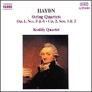 Haydn vonósnégyesek Op.1 No.5-6; Op.2 No.1-2