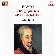 Haydn vonósnégyesek Op.17 No.1, 2 és 4.