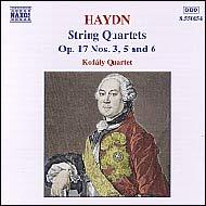 Haydn vonósnégyesek Op.17 No.3, 5 és 6