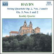 Haydn vonósnégyesek Op.2 No.3 és 5; Op.3 No.1-2