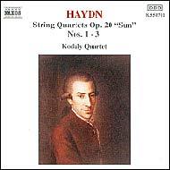 Haydn vonósnégyesek Op.20 No.1-3