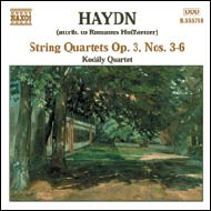 Haydn vonósnégyesek Op.3 No.3-6