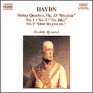 Haydn vonósnégyesek Op.33 No.1,2 és 5