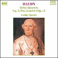 Haydn vonósnégyesek Op.42; Op.2 No.4 és 6