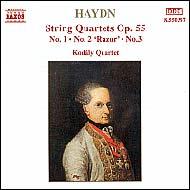Haydn vonósnégyesek Op.55 No.1-3