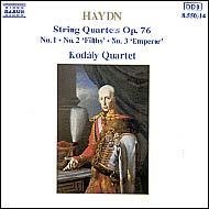 Haydn vonósnégyesek Op.76 No.1-3