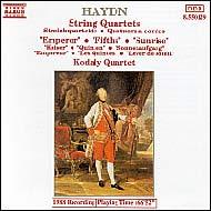 Haydn vonósnégyesek Op.76 No.2-4