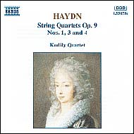Haydn vonósnégyesek Op.9 No.1,3,4