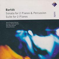 Bartók Béla: Szonáta két zongorára és ütőhangszerekre; Szvit két zongorára
