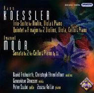 Koessler, Hans: Trió-szvit hegedűre, mélyhegedűre és zongorára; F-dúr kvintett két hegedűre, mélyhegedűre, gordonkára és zongorára / Moór Emmanuel: II. gordonka-zongoraszonáta Op.55