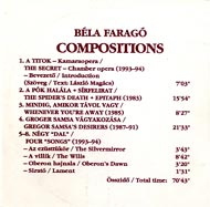 Faragó Béla: Compositions