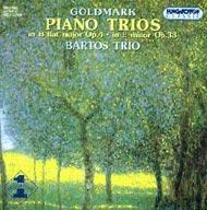 Goldmark Károly: Zongorás triók Op. 4 & Op. 33