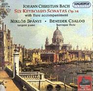Bach, J. Ch.: Hat billentyűs szonáta fuvolakísérettel Op. 16