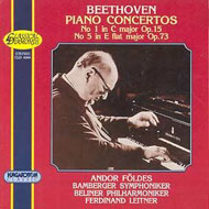 Beethoven: I. (C-dúr) Zongoraverseny Op. 15; V. (Esz-dúr) Zongoraverseny Op. 73