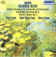Chopin, Fryderyk: Kamarazene (G-moll szonáta Op. 65; G-moll Trió Op. 8)