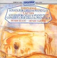 Dohnányi Ernő: B-dúr szonáta Op. 8. / Lajtha László: Szonáta Op. 17; Concerto Op. 31