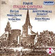 Hasse, Johann Adolf: Olasz kantáták (obligát hangszerekkel)