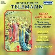 Telemann, Georg Philipp: Szóló kantáták a