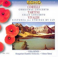 Corelli: Karácsonyi concerto / Tartini: D-dúr concerto / Vivaldi: G-dúr concerto RV. 149