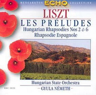 Liszt Ferenc: Les Préludes / II. és VI. magyar rapszódia / Spanyol rapszódia