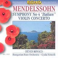 Mendelssohn-Bartholdy, Felix: A-dúr (Olasz) szimfónia Op. 90 / e-moll hegedűverseny Op. 64