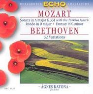 Mozart, W. A.: A-dúr szonáta  / D-dúr rondó / c-moll fantázia / Beethoven: 32 variáció
