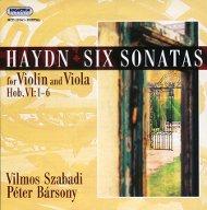 Haydn, Joseph: 6 szonáta hegedűre és mélyhegedűre Hob. VI:1-6