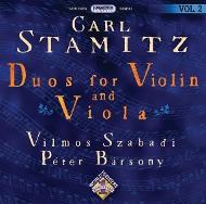 Stamitz, Carl: Duók hegedűre és mélyhegedűre Vol. 02