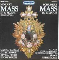 Mozart, Wolfgang Amadeus: Koronázási mise K.317/  Schubert: G-dúr mise