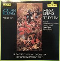 Kodály Zoltán: Missa Brevis / Budavári Te Deum