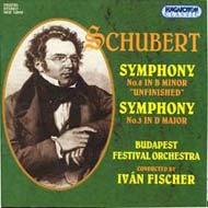 Schubert, Franz: III. (D-dúr) és VIII. (h-moll) szimfónia