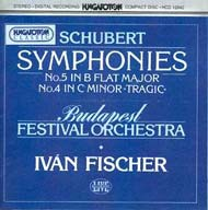 Schubert, Franz: IV. (c-moll) és V. (B-dúr) szimfónia