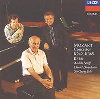 Mozart, Wolfgang Amadeus: Piano Concerto No.20/Concerto for 2 Pianos/Concerto for 3 Pianos