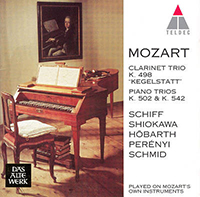 Mozart, Wolfgang Amadeus: Trio for Piano, Clarinet and Viola in E flat/Trio for Piano, Violin & Cello No 4 in E K542 and No 3 in B flat K502