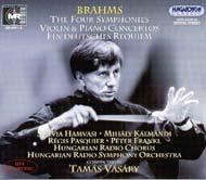 Brahms, Johannes: Négy szimfónia; Hegedű- és zongoraversenyek; Német requiem; Változatok egy Haydn-témára; Tragikus nyitány Akadémiai ünnepi nyitány