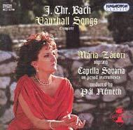 Bach, J. Ch.: Népszerű dalok a Vauxhall Garden hangversenyeire