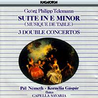 Telemann, Georg Philipp: e-moll szvit; 3 kettősverseny
