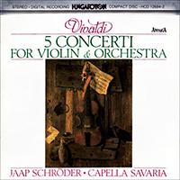 Vivaldi, Antonio: 5 concerto hegedűre és zenekarra