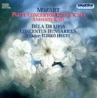 Mozart, W. A.: Fuvolaversenyek (K. 313, K. 314), Andante fuvolára és zenekarra (K. 315)
