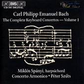 Bach, C.P.E.: The Complete Keyboard Concertos, Vol. 01