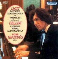 Liszt Ferenc: Fantáziák, reminiszcenciák és variációk Bellini-témákra