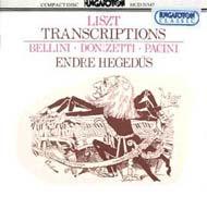 Liszt Ferenc: Átiratok Bellini, Donizetti, Pacini operáiból