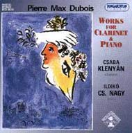 Dubois, Pierre Max: Kompozíciók klarinétra és zongorára