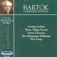 Bartók összkiadás - Vokál-szimfonikus művek