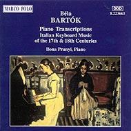 Bartók Béla: Zongoraátiratok